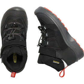 Keen Hikeport Mid WP Shoes Kids black/bright red